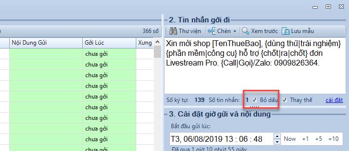 Check bỏ dấu nội dung khi gửi